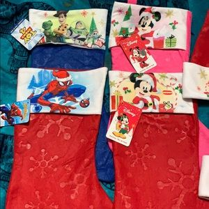 Disney character stockings and matching hats